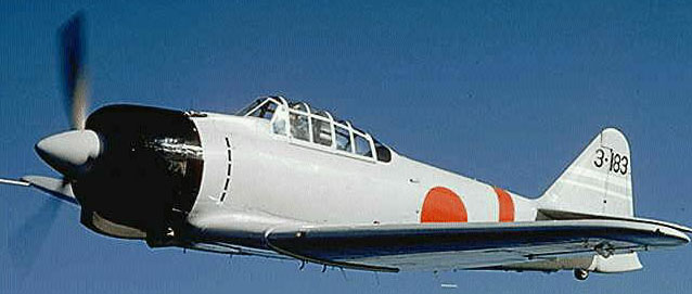 world war ii aircraft - mitsubishi a6m reisen 'zero'